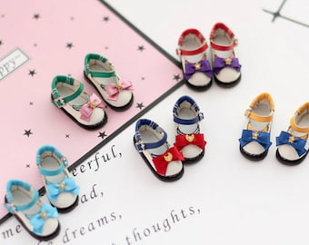 Doll shoes Sailor Moon style for Blythe/DAL/Pullip/Azone/momoko/Jerryberry/Licca/Pukifee/Lati Yellow/FR doll