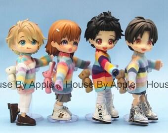 Obitsu11 Clothes Striped pullover bear rabbit removable OB11 bjd dolls clothes Set