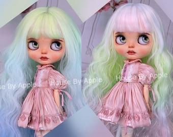 Blythe Doll Wig Long Gradient Macaron Colour Wig Doll Wig 9-10inch Pullip wig