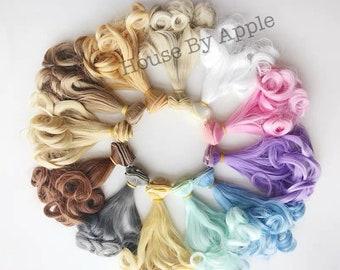 Doll Hair Rinka Curls wefts for BJD/SD/Yosd/Barbie/Monster high/Blythe/1:6/LatiYellow doll making custom doll wig custom dolls DIY doll wig
