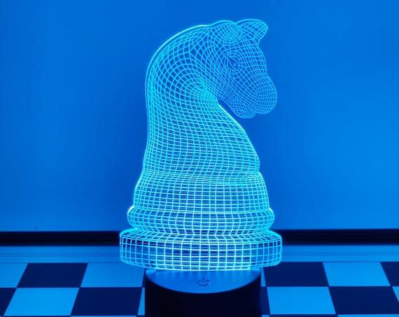 3D Horse Chess Lamp