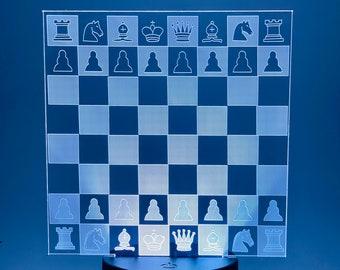 3D Board Chess Lamp
