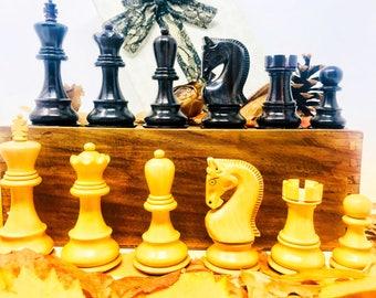 Belgrade Chess Mihail Tal. Soviet style. Luxury Rosewood.