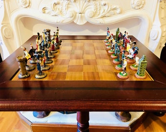 French vs Spanish Chess Table
