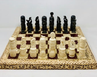 Chess Egyptian Bone Art