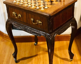 Neoclassical Chess Table Selenus
