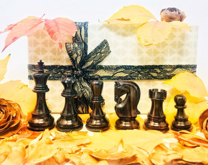Chess Belgrade Mihail Tal. Soviet style. Luxury Rosewood.
