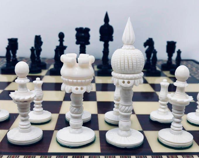 Chess Taj Mahal Bone