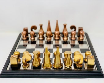 Man Ray Gold Style Surrealist Chess