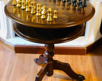 English chess table with Metal parts