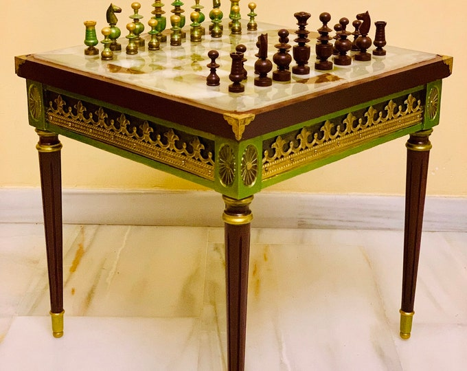 Featured listing image: Chess table Regence Louis XV
