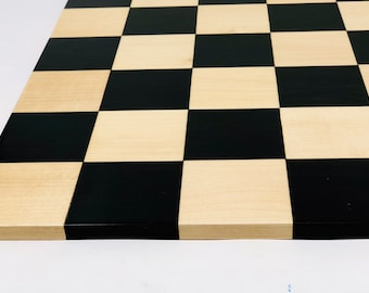 Double-sided Ebony chess board