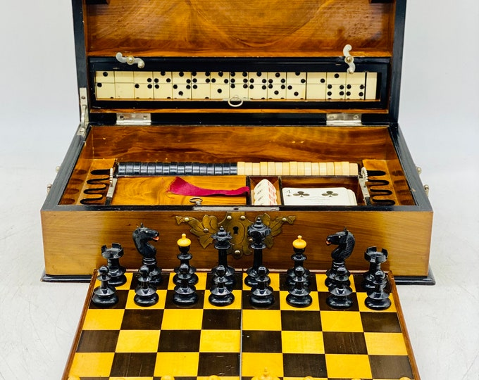 Featured listing image: Biedermeier Chess Game Box