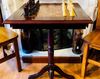 English Club table with Rosewood pieces