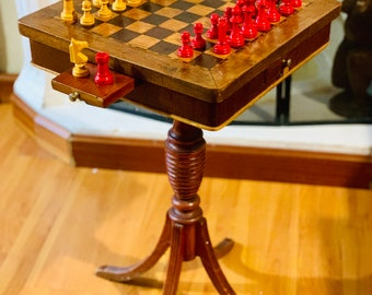 Old Spanish chess table