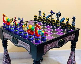 Chess Table Batman vs Joker