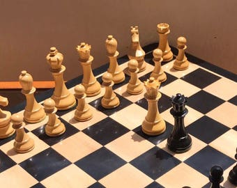 Sochi Carlsen Chess. Pieces and Ebony board.