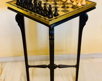High Victorian Chess table