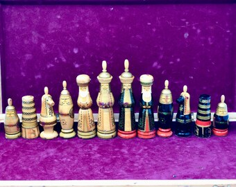Hand Painted Russian chess