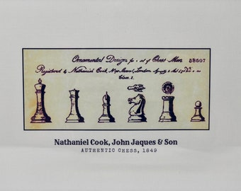 Authentic Chess: Nathaniel Cook, John Jaques & Son (2). Jaques Staunton