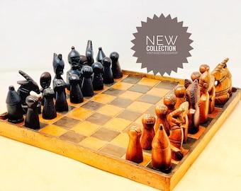 Chess African Art Makonde