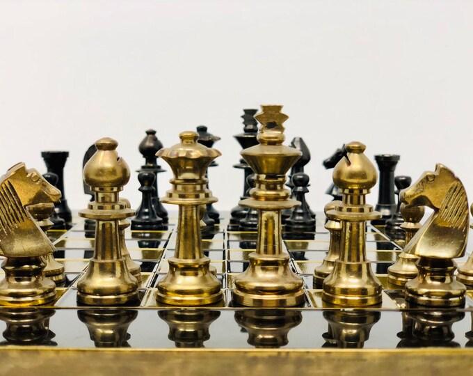 Marinakis Bronze Staunton Chess