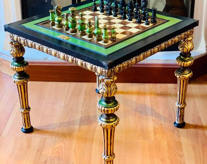 Featured listing image: Chess table Regence Louis XVI