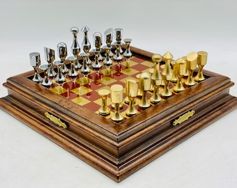 Abstract Bronze Chess