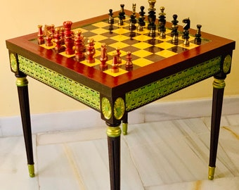 Chess table Regence Louis XV