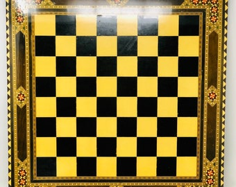 Marquetry Nasrid Chess Board