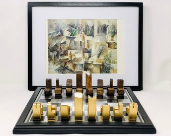 Braque cubist style chess