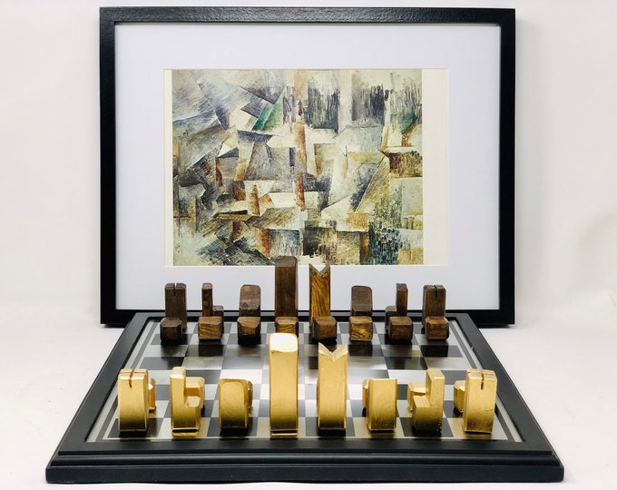 Featured listing image: Braque cubist style chess