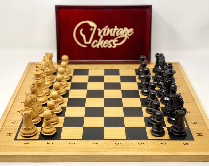 Chess Club Oxford 1901 with Board and Box Vintage chess