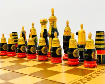 Russian Chess Hand Painted