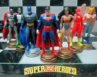 Chess Superheroes. Superman vs Batman