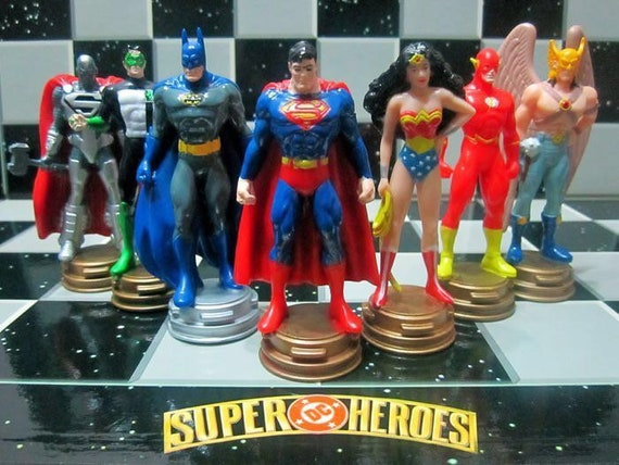 Chess Superheroes. Superman vs Batman