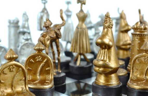 Salvador Dalí Chess Cards and Board.