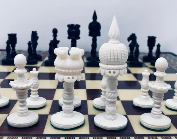 Bone Taj Mahal Chess