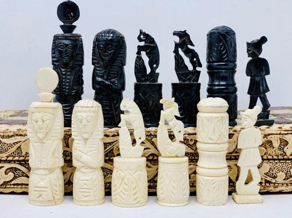 Chess Egyptian Bone Art
