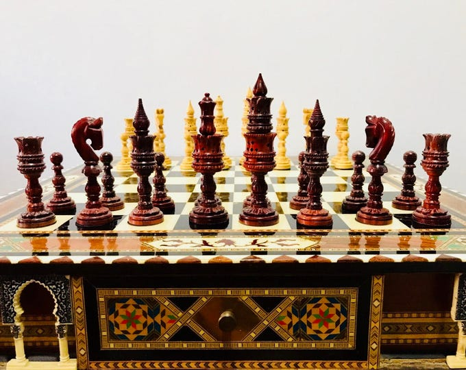 Featured listing image: Chess thousand and One Nights of Palo Rosa. Arabica art.