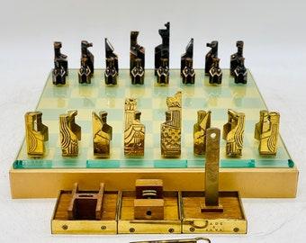 Sculptural Chess Brutalist Cube