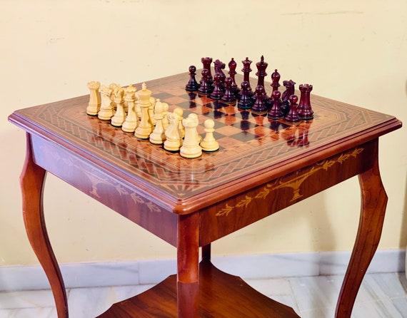 Staunton Capablanca Chess. Padauk