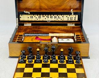 Biedermeier Chess Game Box