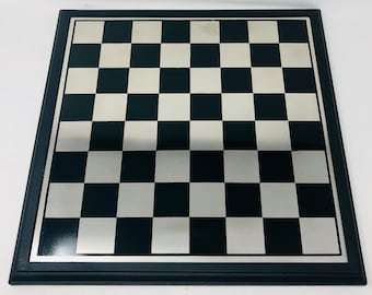 Metallic Chess Board with Wooden Frame