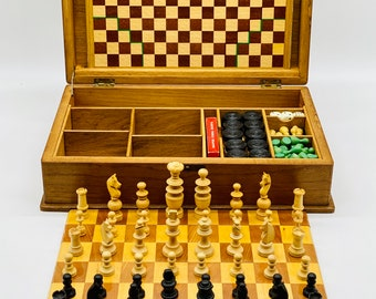 Old Chess Game Box