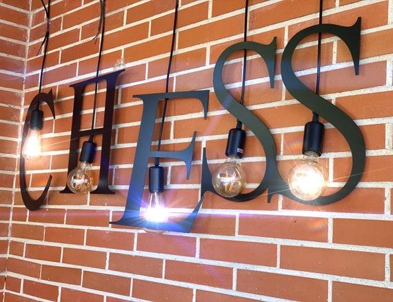 Chess Letter Lamp