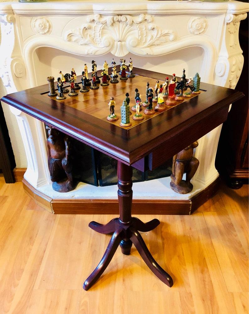 Französisch Schach Tisch Vs Spanisch Etsy