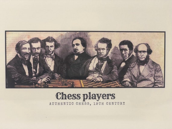 Authentic Chess: Chess Players. Jaques Staunton