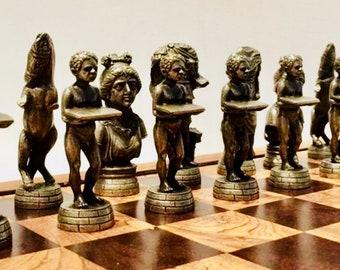 Chess Sculptures Roman Empire
