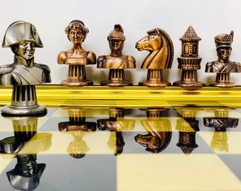 Chess Napoleon Metal Polychrome